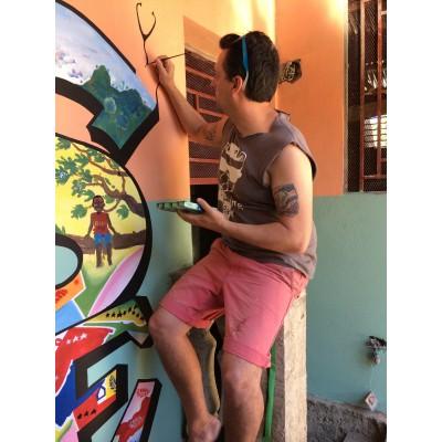 Murale en Haïti/ Centre d'éducation et développement international- Village de l'espoir