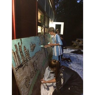 Murale dans les maisons de jeunes