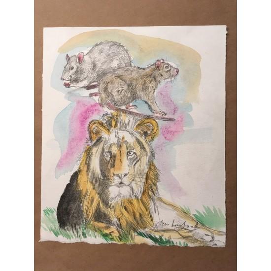 Le lion et le rat/ 8,5 par 11