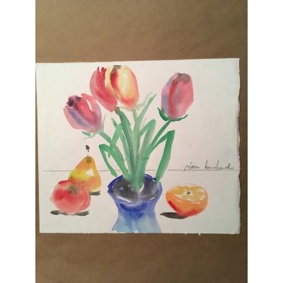 Les tulipes / 8,5 par 10 po.